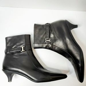 Prada Ankle Square Toe Bootie Brown 38 or 8 Shoes